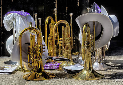 Marching Band Photograph - Gay Pride Parade Nyc 2016 Marching Band Instruments by Robert Ullmann
