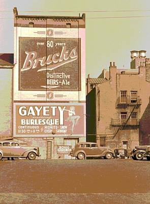 Gayety Burlesque Parking Art Print