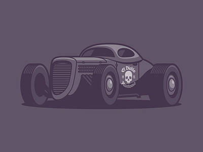 Hot Rod Wall Art - Digital Art - Gaz Gl1 Custom Vintage Hot Rod Classic Street Racer Car - Black by Ivan Krpan
