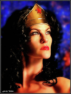 Photograph - Gaze Of A Wonder Woman by Jon Volden