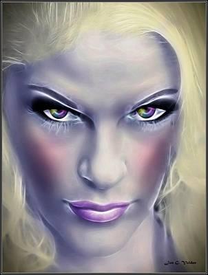 Painting - Gaze Of The Fairy Queen by Jon Volden