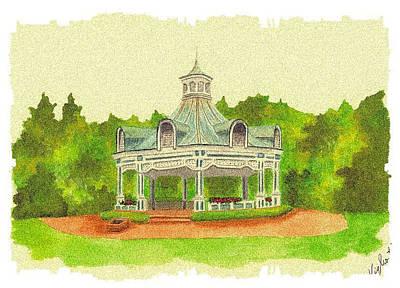 Gazebo - Mill Creek Park Art Print by Michael Vigliotti