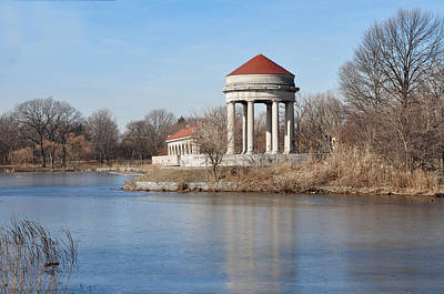 Phillies Digital Art - Gazebo And Boathouse In Fdr Park by Bill Cannon