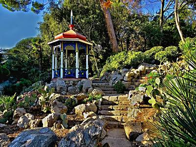 Photograph - Gazebo And Garden  On A Hillside  by Rick Todaro