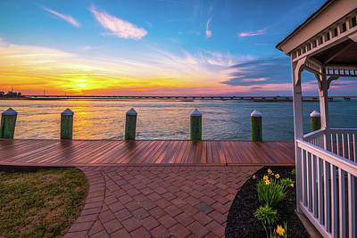 Photograph - Gazebo And Sunset IIi by Steven Ainsworth