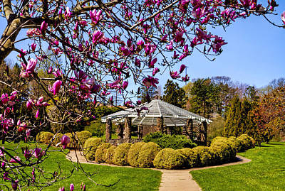 Gazebo At Deep Cut Gardens In Middletown Nj Art Print by Geraldine Scull