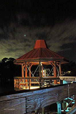 Photograph - Gazebo At Night by Kay Lovingood