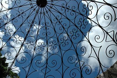 Spot Of Tea - Gazebo blue sky by Susanne Van Hulst