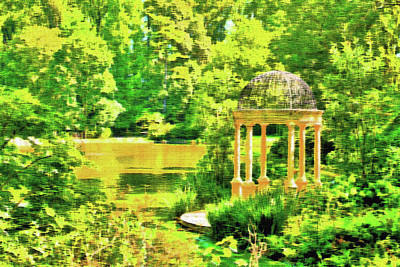 Photograph - Gazebo By The Lake by Lou Ford