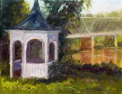 Gazebo By The River- Washington Crossing Original by Kit Dalton