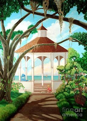 Painting - Gazebo by Frances  Dillon