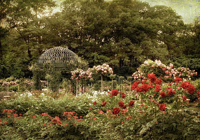 Greenery Digital Art - Gazebo Garden Splendor by Jessica Jenney
