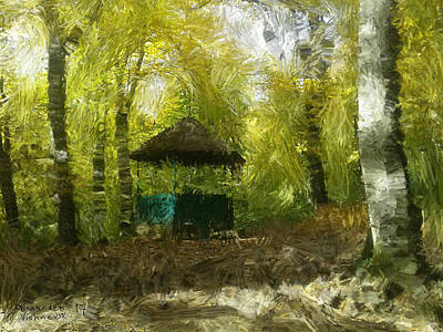 Painting - Gazebo In A Park by Alexander Vishnevsky