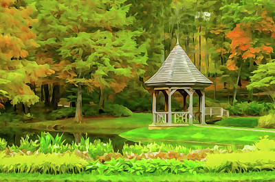Photograph - Gazebo In Autumn by Tom and Pat Cory