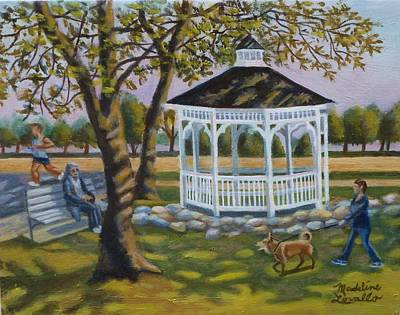 Painting - Gazebo In Fireman's Park  by Madeline Lovallo