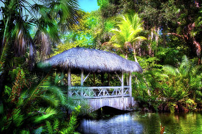 Photograph - Gazebo In Paradise by Mark Andrew Thomas
