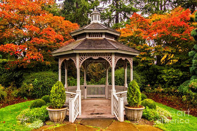 Photograph - Gazebo In The Fall 2 by Sonya Lang