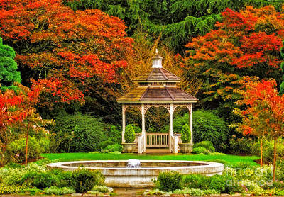 Photograph - Gazebo In The Fall by Sonya Lang
