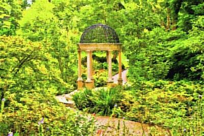 Photograph - Gazebo In The Woods by Lou Ford