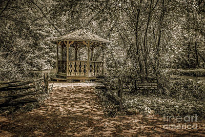 Nikki Vig Royalty-Free and Rights-Managed Images - Gazebo in the Woods by Nikki Vig
