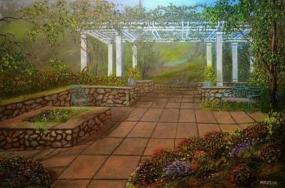 Painting - Gazebo  by Michael Mrozik