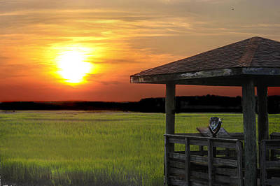Photograph - Gazebo On The Marsh by Terry Shoemaker