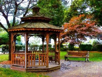Photograph - Gazebo Park - Wayside Park Waymart Pa 18472 by Janine Riley