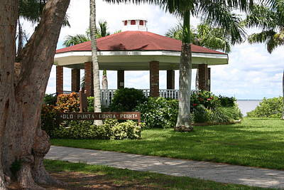 Gazebo Punta Gorda Fl Art Print by Francesco Roncone