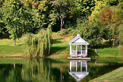 Willow Lake Photograph - Gazebo Reflection by Kristin Elmquist