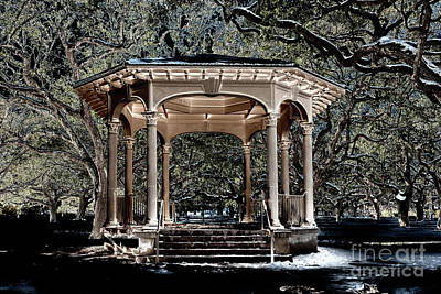 Photograph - Gazebo Solorization by Dale Powell