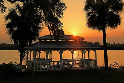 Photograph - Gazebo Sunset by HH Photography of Florida