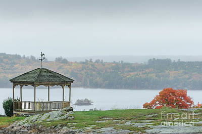 Photograph - Gazebo With A Lake View by Mike Ste Marie