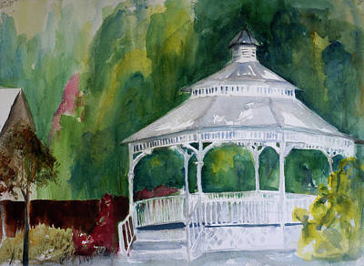 Painting - Gazeebo At Marin Arts And Garden Center by Tom Simmons