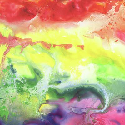 Painting - Gazing At The Rainbow Abstract Vi by Irina Sztukowski