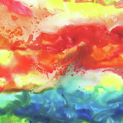 Painting - Gazing At The Rainbow Abstract Vii by Irina Sztukowski
