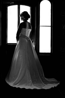 Wedding Gown Photograph - Gazing Bride by David Paul Murray