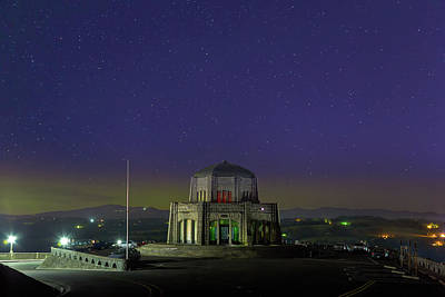 Photograph - Gazing Stars At Vista House On Crown Point by David Gn