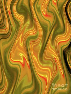 Turbulence Wall Art - Digital Art - Gbry by John Edwards