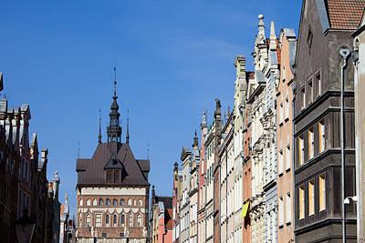 Gdansk Old Town Skyline In Poland Art Print by Artur Bogacki