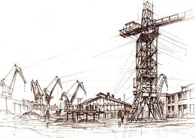 Gdansk Shipyard Art Print by Krystian  Wozniak