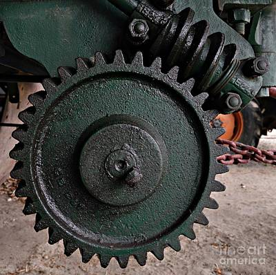 Photograph - Gear And Screw 2 by Chalet Roome-Rigdon
