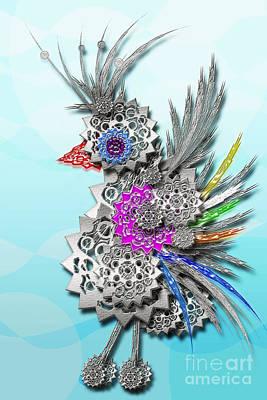 Digital Art - Gear Bird by Afrodita Ellerman