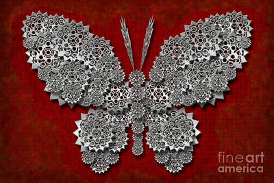 Digital Art - Gear Butterfly by Afrodita Ellerman