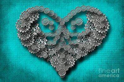 Digital Art - Gear Heart by Afrodita Ellerman