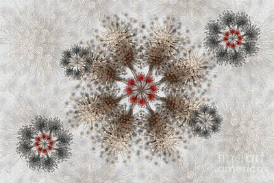 Digital Art - Gear Lace by Afrodita Ellerman