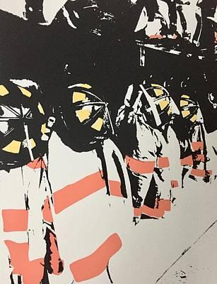 Fire Gear Painting - Gear by Mark David Macenas