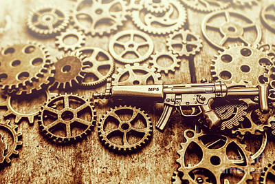 Weapons Photograph - Gear Of Weapon Design by Jorgo Photography - Wall Art Gallery
