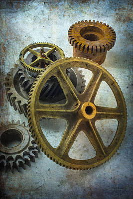 Metal Things Photograph - Gear Still Life by Garry Gay