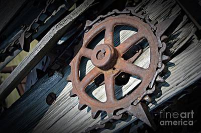 Photograph - Gear Wheel by Chalet Roome-Rigdon