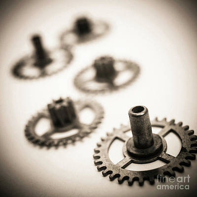 Gear Photograph - Gear Wheels. by Bernard Jaubert